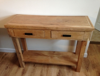 Medium oak hall table