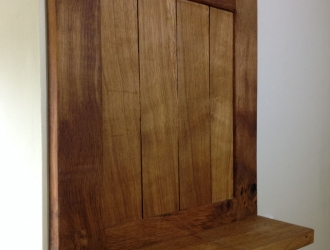 Oak panel shelf